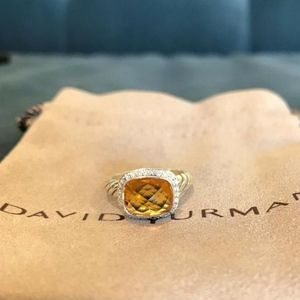 David Yurman Noblesse Ring Citrine Diamonds